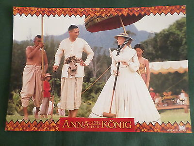JODIE FOSTER- YUN-FAT CHOW - GERMAN LOBBY CARD- 8.25x11.50- ANNA AND THE KING