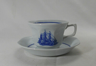 Wedgwood American Clipper-Blue Cup and Saucer