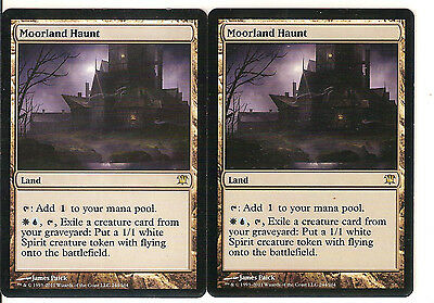 mtg Magic 2x Moorland Haunt ( Paramo embrujado ) English NM-