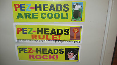 PEZ Vinyl Bumper Stickers 3 inches by 10 inches Great Stocking Stuffer!