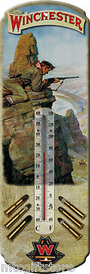Vintage style Winchester Hunting Ammunition themed  Metal Thermometer # 01344