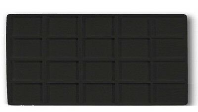 4 Black 20 Space Jewelry Display Liner Inserts Fits standard size trays