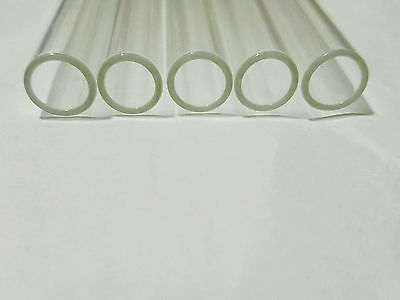 "8"" Pyrex Tubes 10 mm OD 8mm ID 5 Clear Glass Blowing Tubing 1 mm Thick Wall Tube"