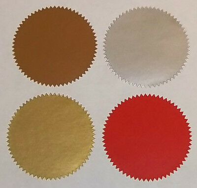 Red Gold Silver Bronze Company Legal Wafer Seals, Certificate - Wedding Stickers