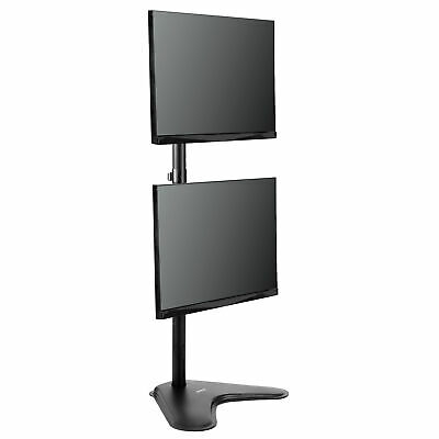 VIVO Dual LCD Monitor Desk Vertical Stand Mount | Fits 2 Screens up to 30""