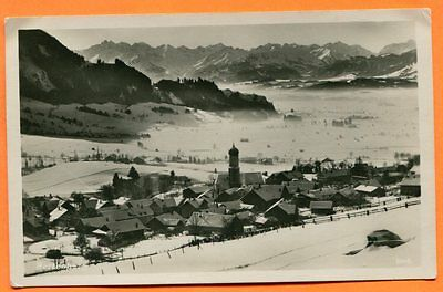 Rettenberg, Allgau, Germany, Town in Winter, Real Photo Post Card circa 1950
