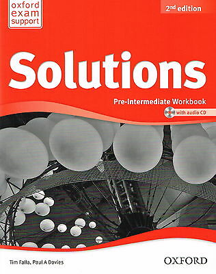 Oxford SOLUTIONS 2nd Edition Pre-Intermediate Workbook with Audio CD @NEW BOOK@