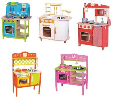 Lelin Wooden Wood Childrens Kids Pretend Play Saffron Kitchen Cooking Oven Toy