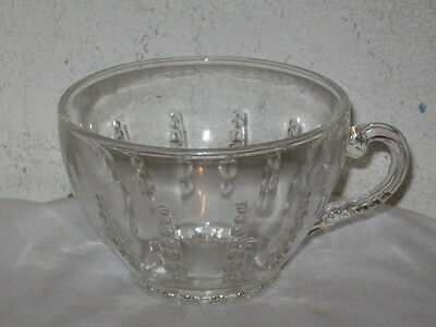 Vintage Federal Glass Columbia Pattern Crystal Cup VFC