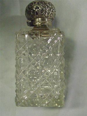 Awsome 1894 Hallmarked Silver And Cut Glass Perfume Bottle.