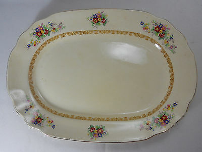 Wedgwood Shirley 12in Oval Serving Platter (Poor Condition)