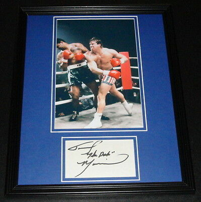 Tommy The Duke Morrison Signed Framed 11x14 Photo Poster Display Rocky V