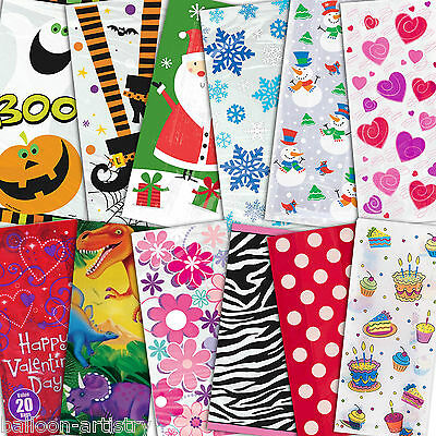 Favour Loot Gift Treat Cello Cellophane Plastic Party Bags All In One Listing