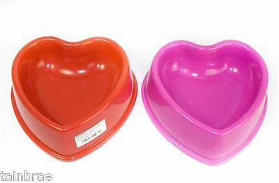 Heart Pet Feed Bowl For Cats & Dogs