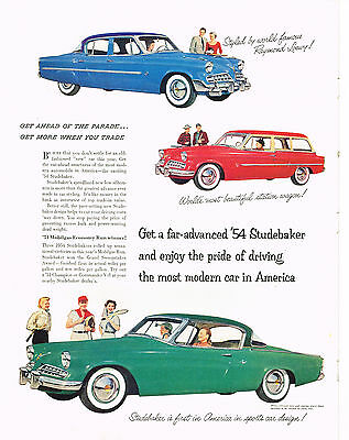 Vintage 1954 Magazine Ad Studebaker Enjoy The Pride Of Driving Most Modern Car