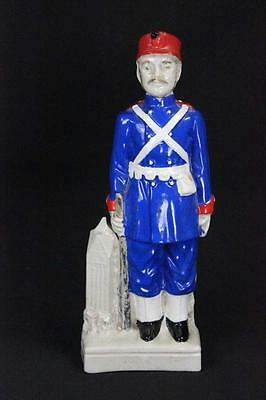ANTIQUE 19th CENTURY FRENCH / AMERICAN SOLDIER WASHINGTON ARTILLERY NEXT TO CATH