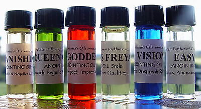 1 x EVIL EYE ANOINTING OIL Wicca Pagan Spell Witch PROTECT YOU WARD OFF NEGATIVE