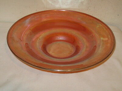 Antique Federal Glass Madrid Pattern Iridescent Console Bowl VFC