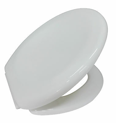Lightweight Prima White Soft Close Toilet Seat Bathroom WC With Fixings