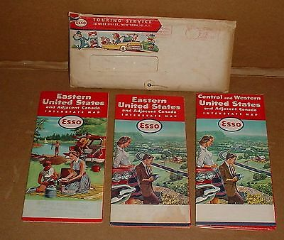 1959 Esso Touring Service Package      Maps