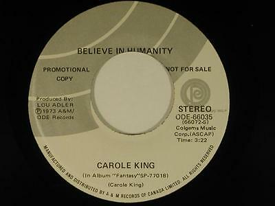 CAROLE KING 45 BELIEVE IN HUMANITY / YOU LIGHT UP MY LIFE~ODE VG++