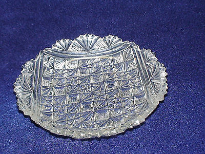 VINTAGE AMERICAN BRILLIANT CUT GLASS STYLE CANDY DISH