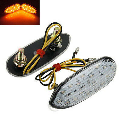 Mirror Block Off LED Turn Signals Indicator Flasher For Suzuki GSXR 1000 01-13