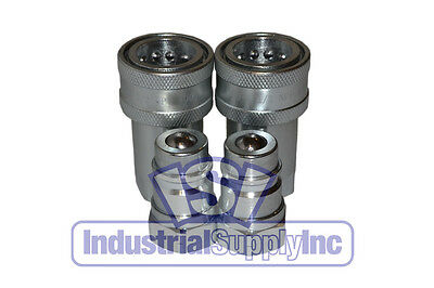 """(2 Sets)  1/2"""" Ag Quick Couplers interchanges w/4050-4 / 8010-4 Pioneer Couplers"""