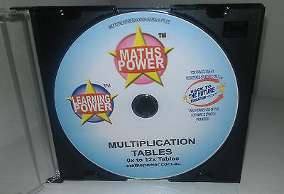 Learn Times Tables Multiplication A4 Chart & Disc Maths Software**Free Chart**