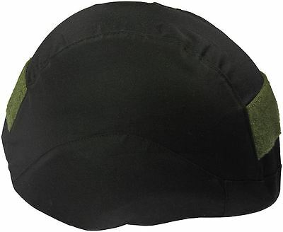 Black Tactical Cover with Green Velcro for Bulletproof Body Armor PASGT Helmet