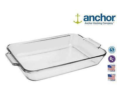 Anchor Hocking 81938 Extra Large Glass Rectangle Baking Roasting Dish Oven Tray
