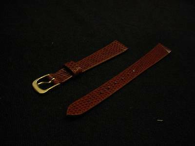 Ladies Speidel NOS 11mm #R254330BRN Brown Genuine Lizard Leather Watch Band W838