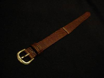 Ladies Speidel NOS 14mm L70253631BR Brown Genuine Lizard Leather Watch Band W513
