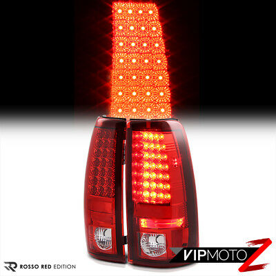 PAIR ROSSO RED LED Tail Lights Wine Third Brake 1997-2003