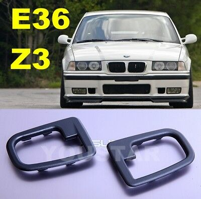 x2 New RIGHT & LEFT Interior inner Door Handle Surrounds Trim for BMW E36 Z3 h9