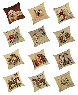 """18"""" (45cm) Beautiful Tappestry Animal Cushion Cover & Inner Loads Of Designs"""