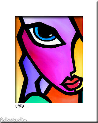 Original Pop ART Abstract MODERN color girl fun print by Fidostudio - Accent