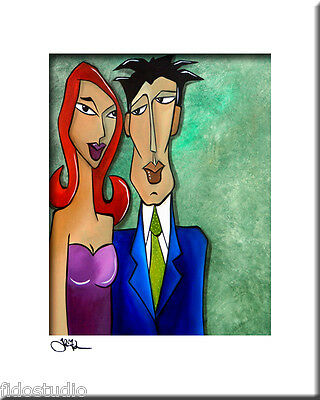 Original Pop ART Abstract MODERN couple fun print by Fidostudio - Stop Moving