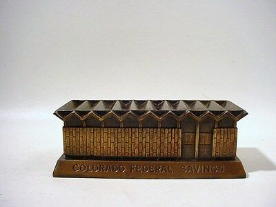 Vtg MID-CENTURY Coin Bank WILLIAM MUCHOW Colorado Savings PROMOTIONAL Banthrico