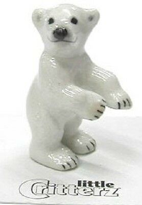 103433 - Little  Critterz figurine Totem Polar Bear in clear box with story card