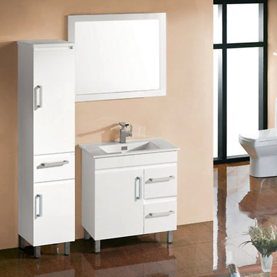 BELLA – 750mm (R) BATHROOM VANITY UNIT INCLUDING WHITE GLOSS CERAMIC BASIN
