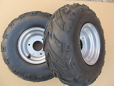 ATV Quad rear wheels pair complete 145 - 70 - 6 suit many Chinese quads and LT50
