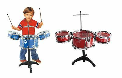 Big Band Childrens Kids Red Blue Drum Percussion Musical Sound Playset Toy