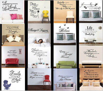 Hot Sale! Wall Art Quote Vinyl Decal Removable Stickers Mural Home Decor Decal