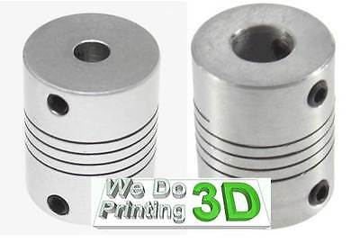 5x8mm Motor Shaft Coupler ideal for 3D printer shafts, Reprap, CNC - 5mm to 8mm