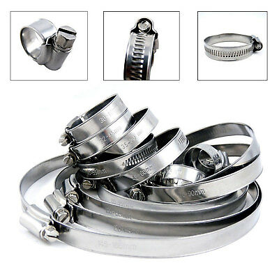 Stainless Steel Hose Clip Worm Drive W4 Marine Tube Clips Clamps