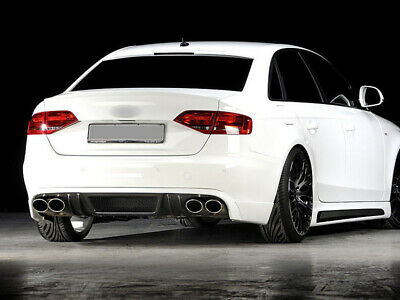 @ PAINTED 09-12 AUDI A4 B8 Saloon Trunk Boot Lip Spoiler Ibis White LY9C/T9