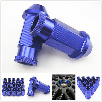 20 Pcs Blue Aluminum Wheel Tuner Lug Nut Kit M12 x 1.5MM For Honda Civic Accord