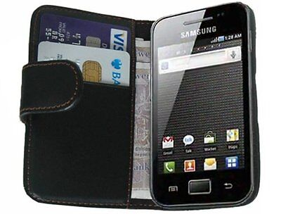 WALLET Leather Flip Case Phone Cover for Samsung Galaxy Ace GT-S5839 / GT-S5839i