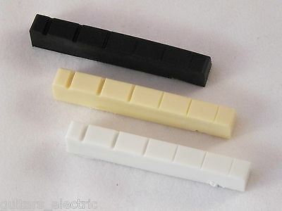 42mm GRAPHITE NUT for Gibson or Epiphone Style Guitars in WHITE, CREAM or BLACK